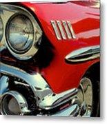 Red 1958 Chevrolet Impala Metal Print by David Patterson