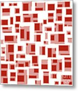 Red Abstract Rectangles Metal Print by Frank Tschakert