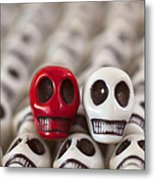 Red And White Metal Print by Mike Herdering