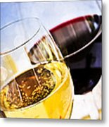 Red And White Wine Metal Print by Elena Elisseeva