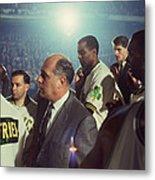 Red Auerbach Boston Celtics Legend Metal Print by Retro Images Archive