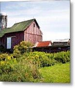 Red Barn In Groton Metal Print by Gary Heller