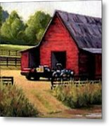Red Barn In Leiper's Fork Tennessee Metal Print by Janet King