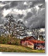 Red Barn On The Boswell Farm Metal Print by Reid Callaway