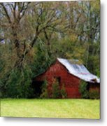 Red Barn Metal Print by Steven Richardson