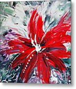 Red Beauty Metal Print by Teresa Wegrzyn