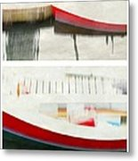 Red Boat At The Dock Metal Print by Patricia Strand