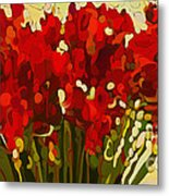 Red Bouquet Metal Print by Dorinda K Skains