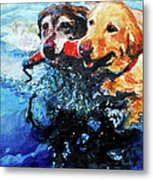 Red Bumper Metal Print by Molly Poole