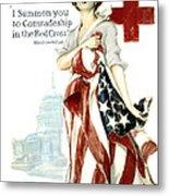 Red Cross World War 1 Poster  1918 Metal Print by Daniel Hagerman