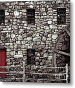Red Door Metal Print by Jayne Carney