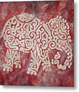 Red Elephant Metal Print by Jennifer Kelly