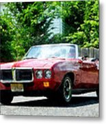 Red Firebird Convertible Metal Print by Susan Savad