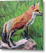 Red Fox Metal Print by Lorrie T Dunks
