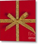 Red Gift With Gold Ribbon Metal Print by Elena Elisseeva