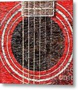 Red Guitar - Digital Painting - Music Metal Print by Barbara Griffin