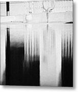 Red Lifebelt And Reflection In Still Blue Swimming Pool In Resort Hotel Hammamet Tunisia Metal Print by Joe Fox