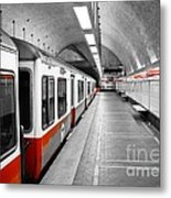 Red Line Metal Print by Charles Dobbs