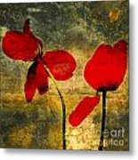 Red Petals Metal Print by Bernard Jaubert