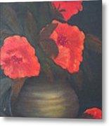 Red Poppies Metal Print by Kay Novy