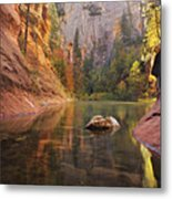 Red Rock Autumn Metal Print by Peter Coskun