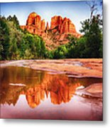 Red Rock State Park - Cathedral Rock Metal Print by Bob and Nadine Johnston