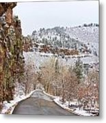 Red Rock Winter Drive Metal Print by James BO  Insogna