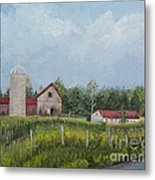 Red Roof Barns Metal Print by Reb Frost
