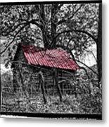 Red Roof Metal Print by Debra and Dave Vanderlaan