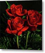 Red Roses Metal Print by Sandy Keeton