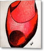 Red Shoe Metal Print by Debi Starr
