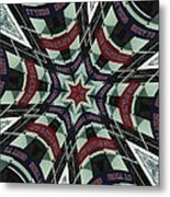 Red Sox Heroes Collide-a-scope Metal Print by Sue  Thomson
