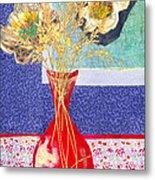 Red Vase I Metal Print by Diane Fine