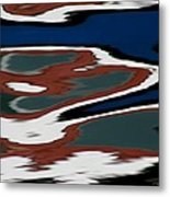Red White And Blue Vi Metal Print by Heidi Piccerelli