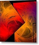 Red Yellow And Blue Mix Metal Print by Mario Perez