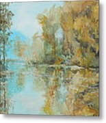 Reflecting On Reflections Metal Print by Elizabeth Crabtree