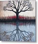 Reflecting Tree Metal Print by Janet King