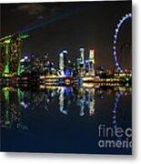 Reflections At Marina Bay Metal Print by Jenny Zhang