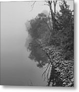 Reflections In Black And White Metal Print by Dan Sproul