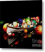 Reflections Of Glass 2 Metal Print by Cheryl Young