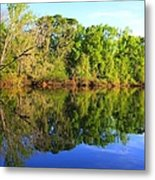 Reflections On The River Metal Print by Debra Forand