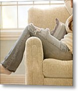 Relaxed Metal Print by Margie Hurwich