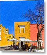 Relaxing In Colorful Puebla Metal Print by Mark E Tisdale
