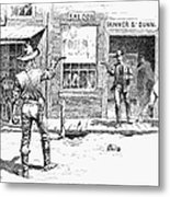 Remington: Duel Metal Print by Granger