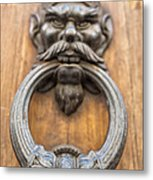 Renaissance Door Knocker Metal Print by Melany Sarafis