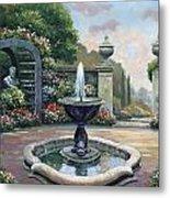 Renaissance Garden Metal Print by John Zaccheo