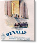 Renault 1930 1930s Usa Cc Cars Metal Print by The Advertising Archives