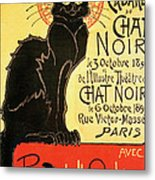 Reopening Of The Chat Noir Cabaret Metal Print by Theophile Alexandre Steinlen