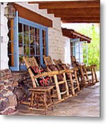 Reserved Seating Palm Springs Metal Print by William Dey