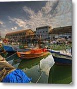 resting boats at the Jaffa port Metal Print by Ron Shoshani